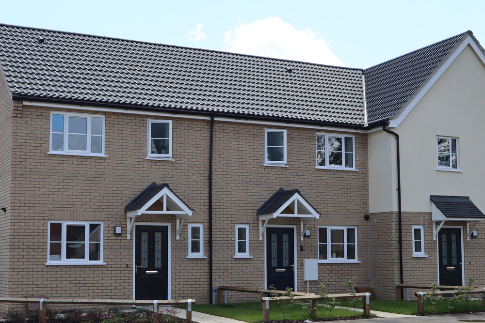 Double Pantile finished in Anthracite Grey