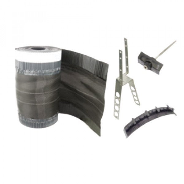 Dry fix system for non-interlocking ridges and hips